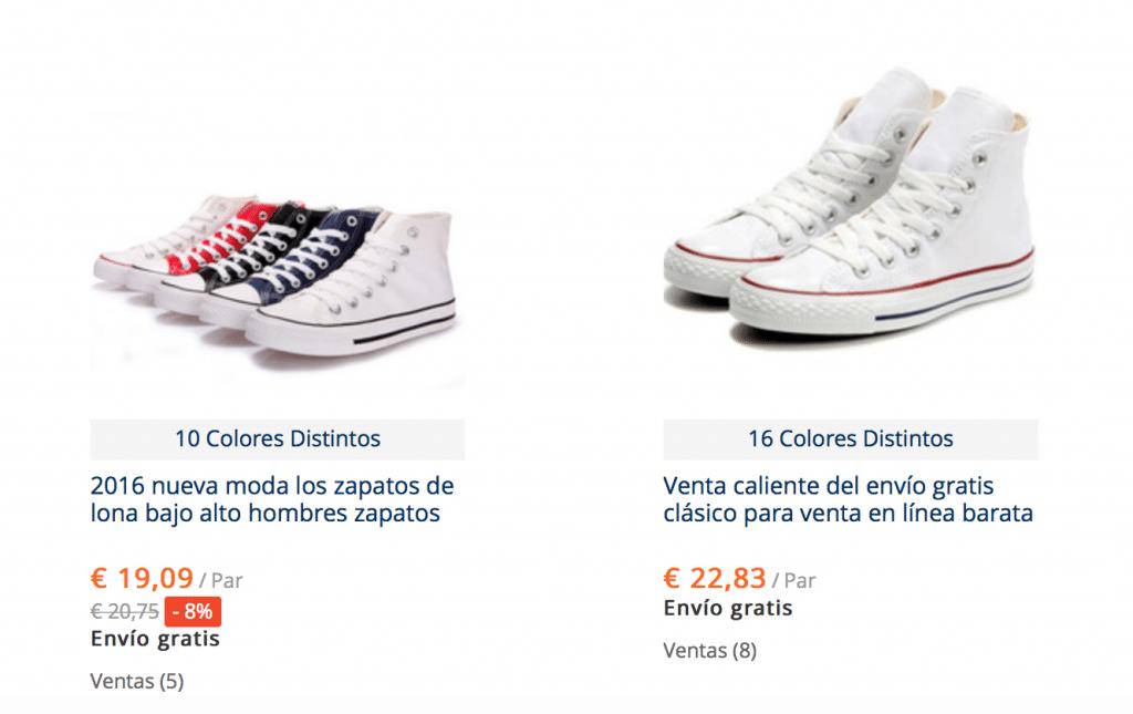 Guía para comprar Converse baratas en AliExpress
