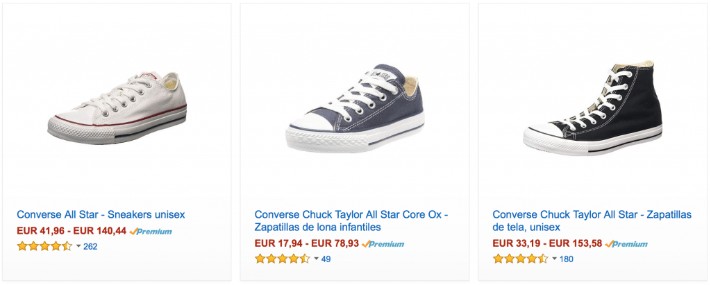 Zapatillas converse baratas en amazon