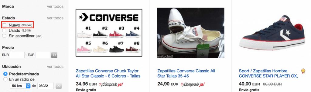 donde comprar converse baratas y de buena calidad ebay