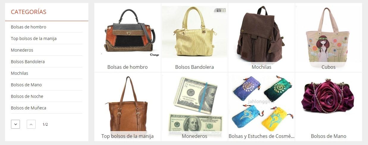 Tipos de bolsos sin marca