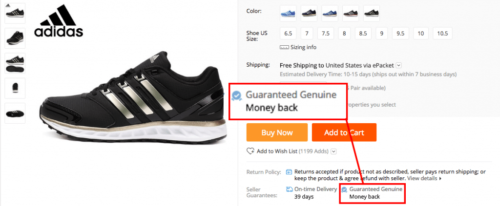 Adidas guaranteed genuine/