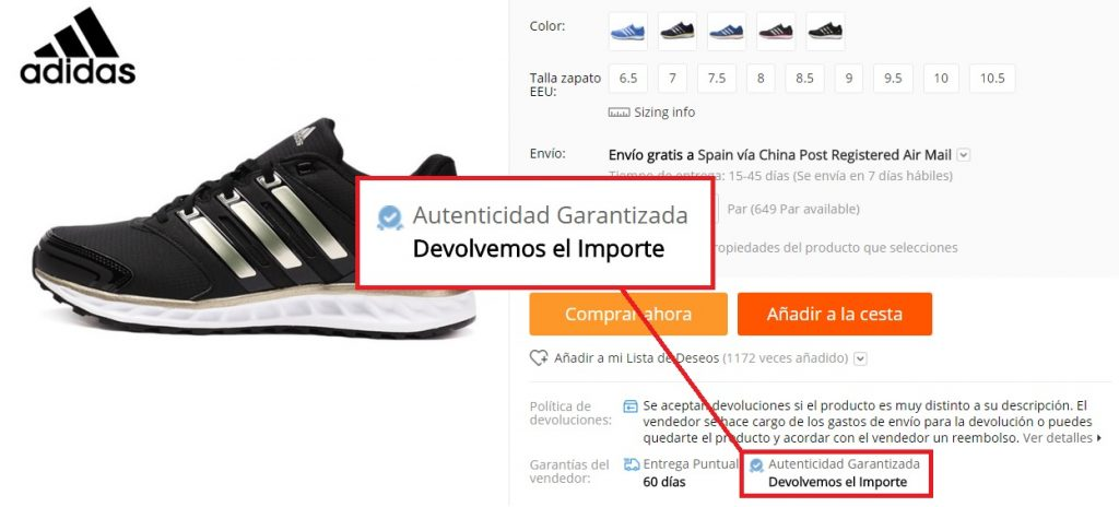 como encontrar zapatillas adidas en aliexpress