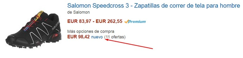 Comprando Zapatillas Salomon en Amazon