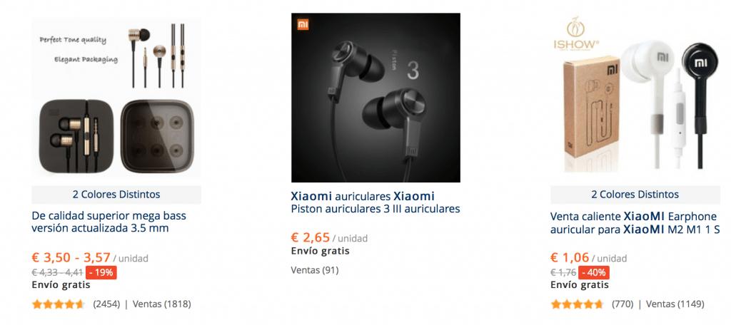 Auriculares baratos y de calidad Xiaomi en ALiExpress