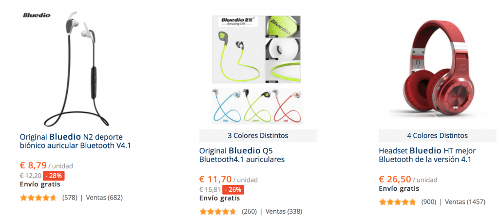 Cascos Bludio en AliExpress baratos