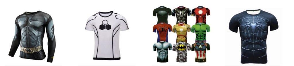 Camisetas de compresión de superhéroes baratas