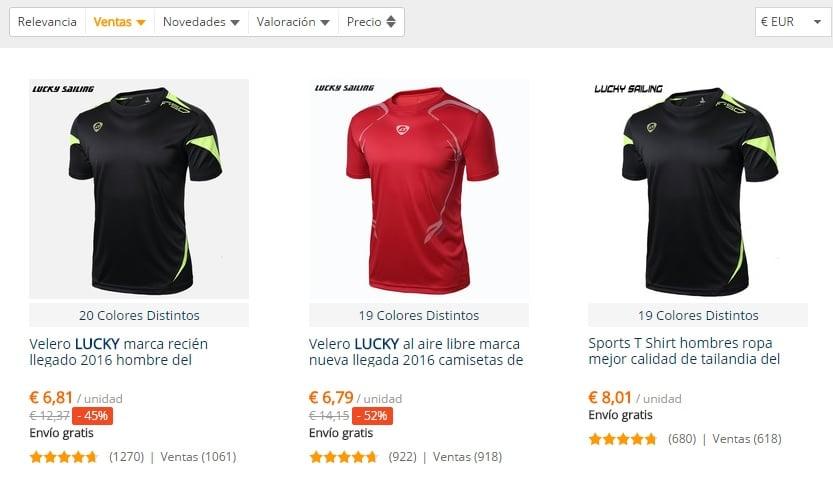 Camisetas fútbol AliExpress