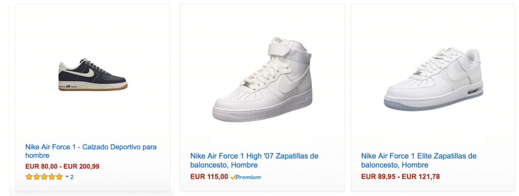 comprar nike air force one blancas baratas