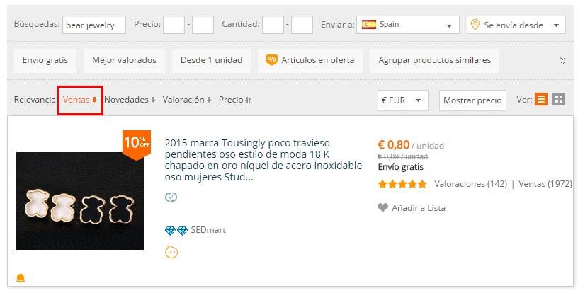 Cómo ves joyas Tous con buena valoración en AliExpress