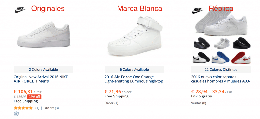 zapatillas nike air force baratas en AliExpress