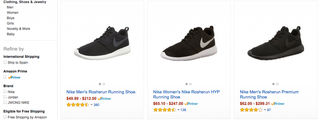 Nike Roshe Amazon ENG