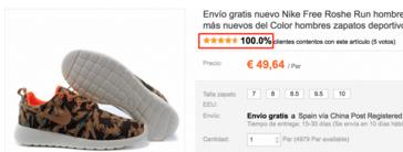 Nike Roshe percentage