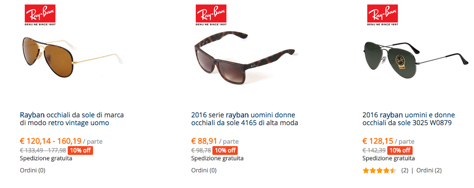 Ray Ban aliexpress IT