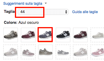 Taglie new balance amazon