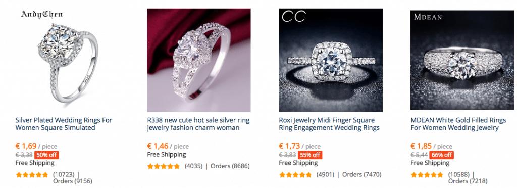 cheap rings 3 euros