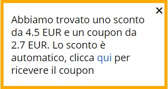 Coupon e sconto