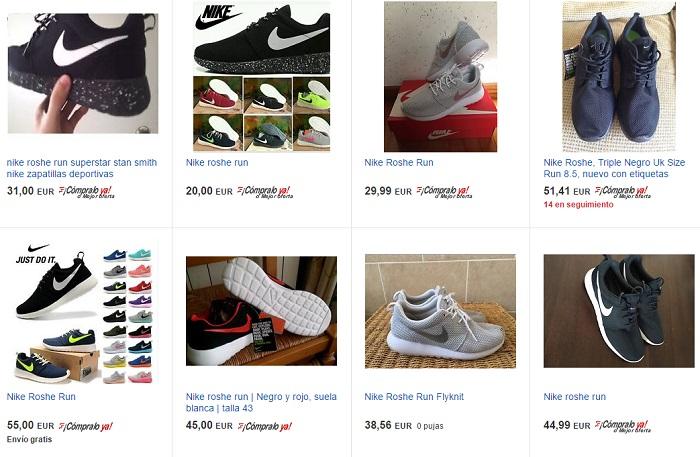 Outlet de Nike Roshe en eBay