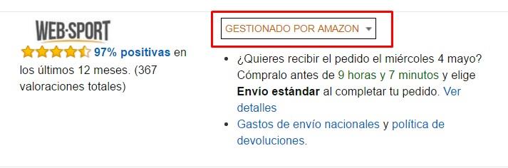 Gestionado por Amazon