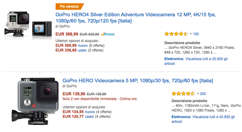 Amazon gopro IT