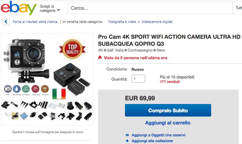 Ebay gopro IT