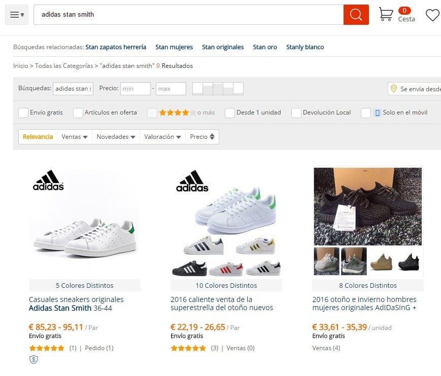 Adidas Stan Smith originales de AliExpress