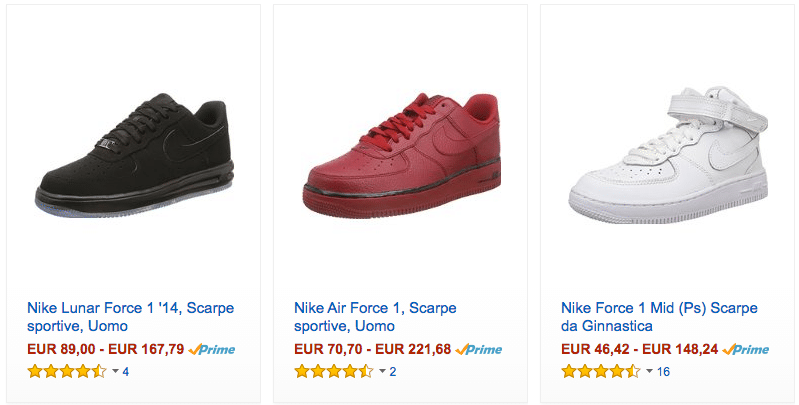 Nike Air Force One Venditori Scontati su AliExpress