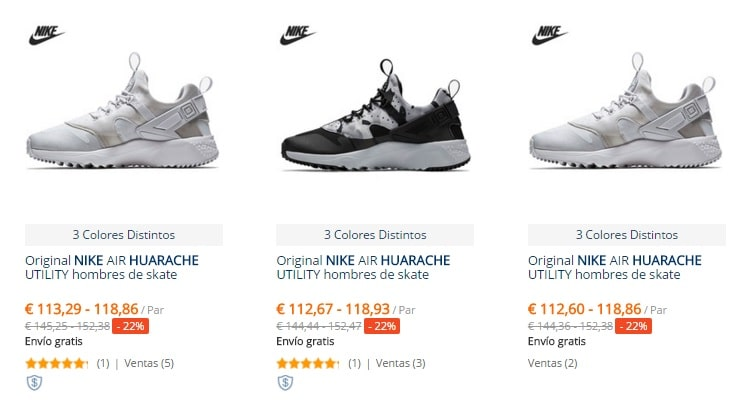 hot sales 87c44 50ae8 Huarache originales AliExpress