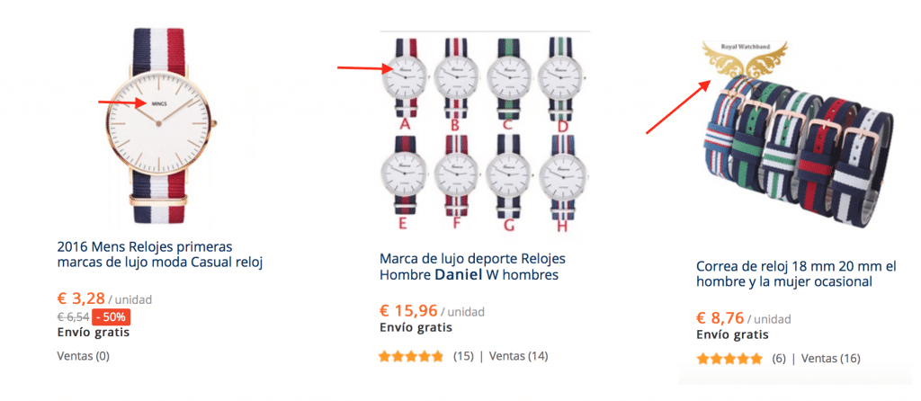 relojes daniel wellington barato en Aliexpress marca blanca