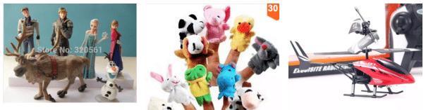 Brinqueados criança AliExpress