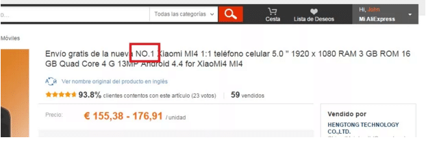 Xiaomi falso no Aliexpress