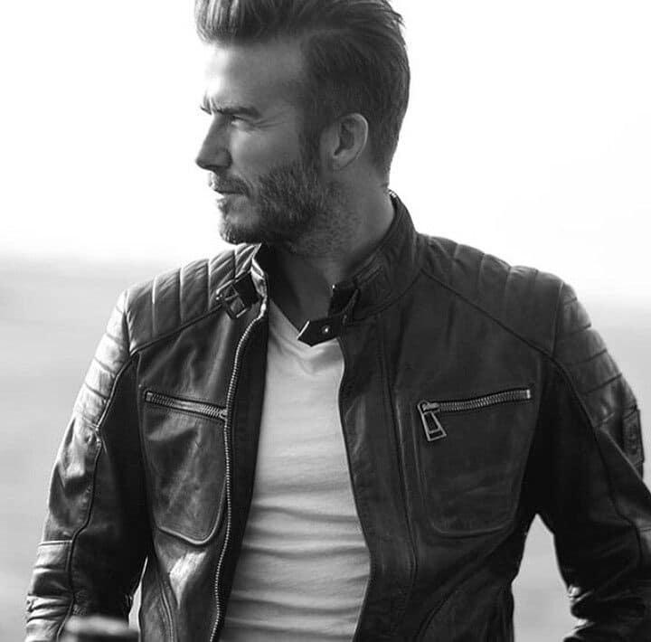 Chaqueta de cuero de Beckham