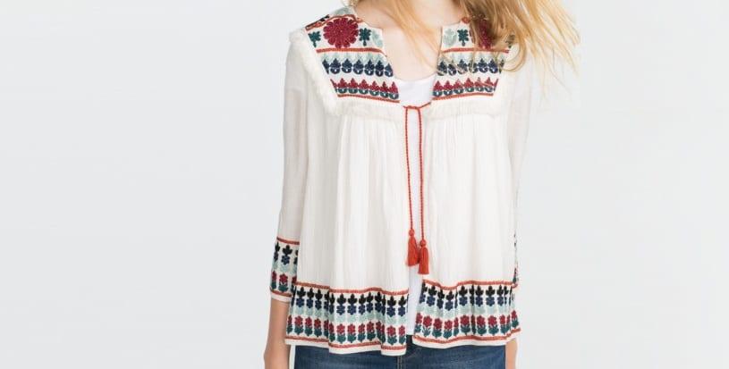 Blusa Boho Zara