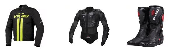 Jaquetas, roupas e acessórios para motos