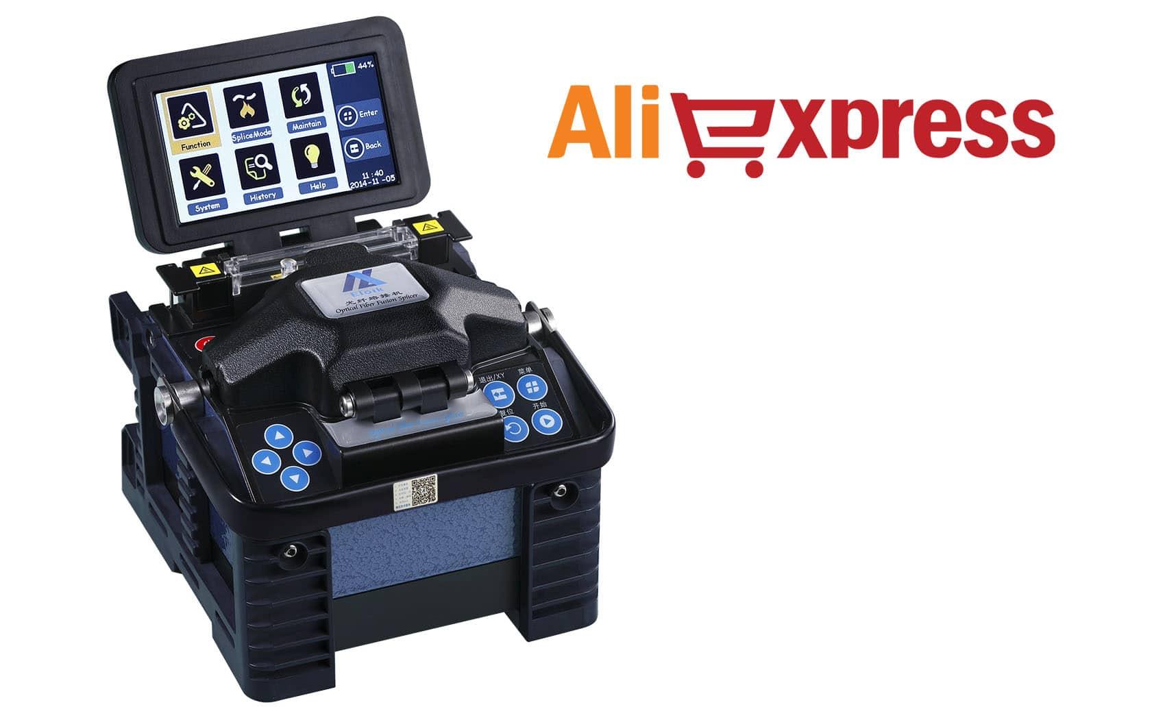 Máquinas fusionadeiras de fibra óptica BARATAS no AliExpress