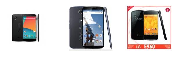 Nexus 4, 5, 6