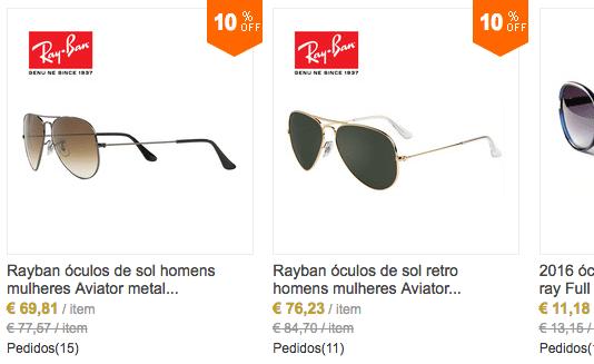 Como Comprar Óculos Ray Ban BARATOS no AliExpress 51af46c260