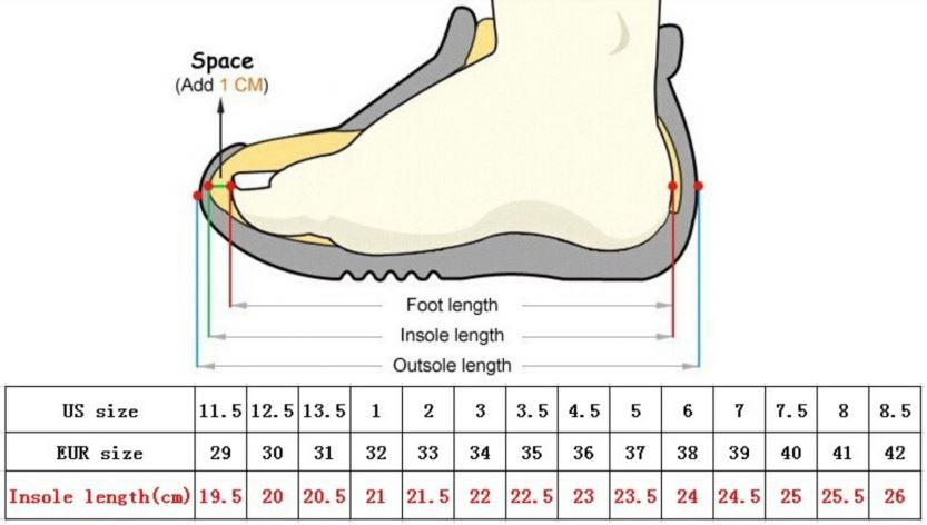 scarpe nike misure americane
