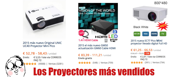 los proyectores baratos hd mas vendidos en aliexpress