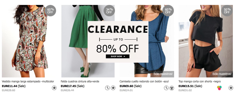 rebajas sheinside ropa muy barata en liquidacion