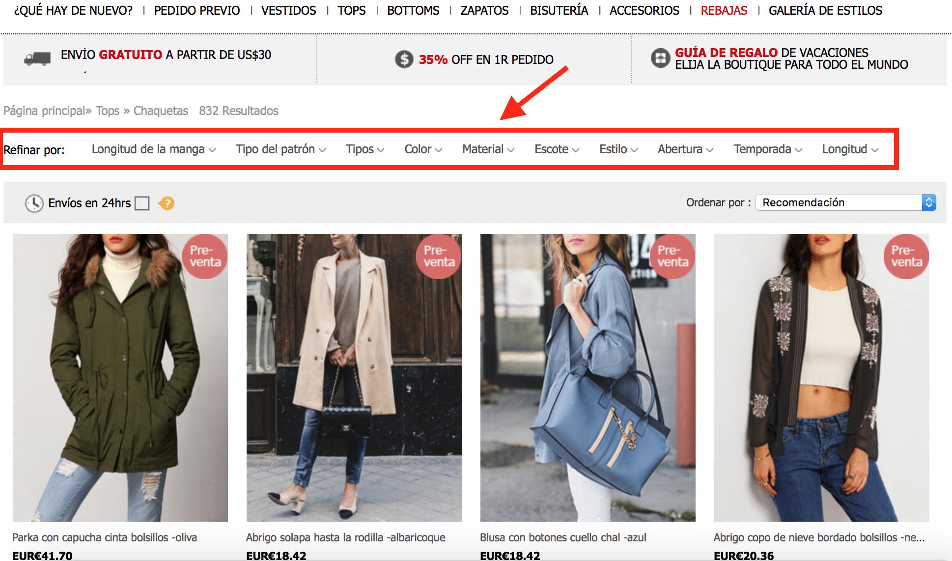trucos para encontrar ropa barata en sheinside