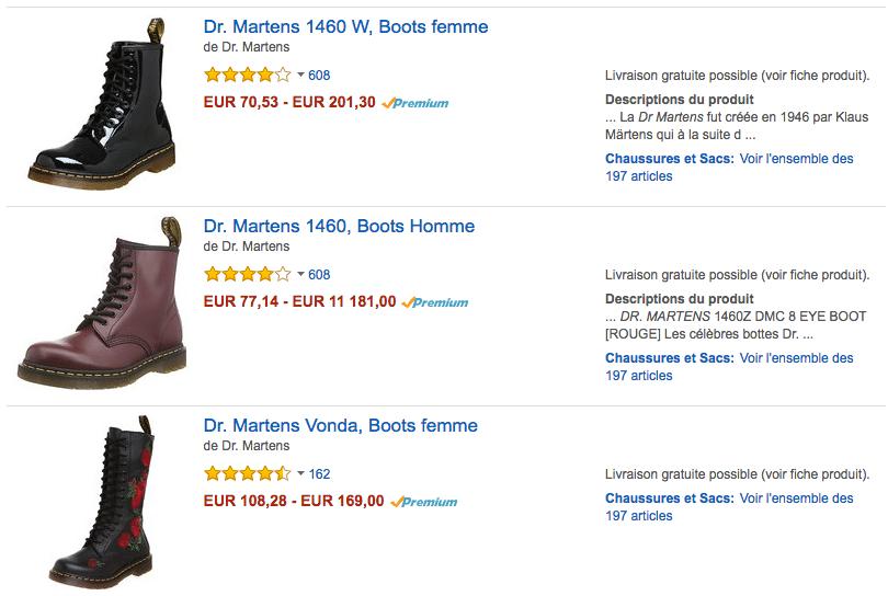 Amazon Martens FR