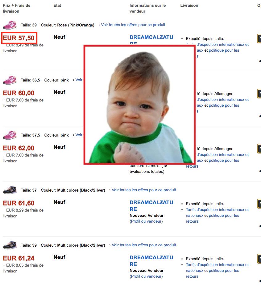 Amazon NB price FR