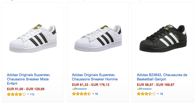 Amazon adidas superstar FR