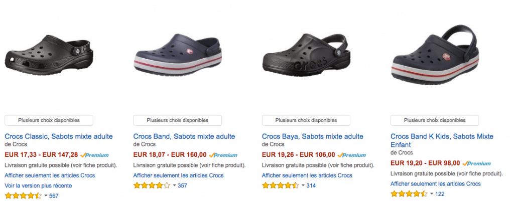 Amazon crocs FRA