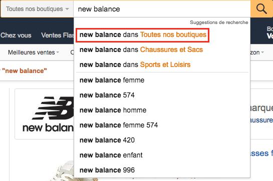 Amazon new balance FR
