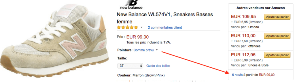 comment taille les new balance