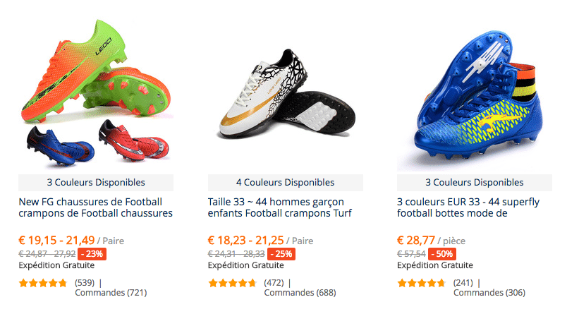 Chaussures futbol FR
