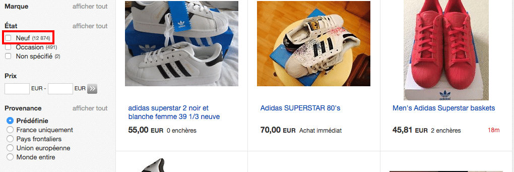 Ebay adidas superstar FR