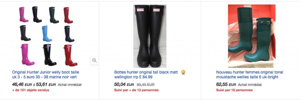 Ebay hunter boots FRA
