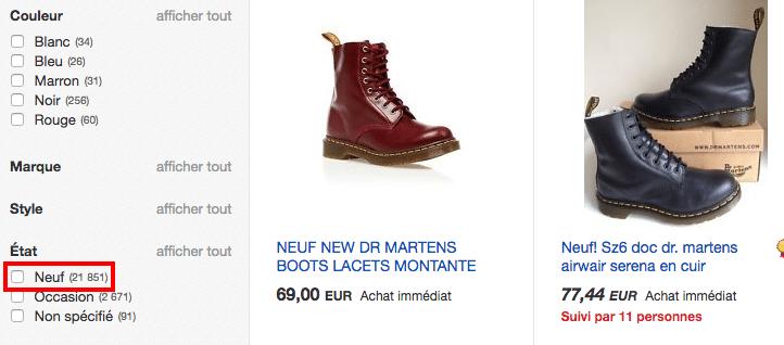 Ebay martens FR